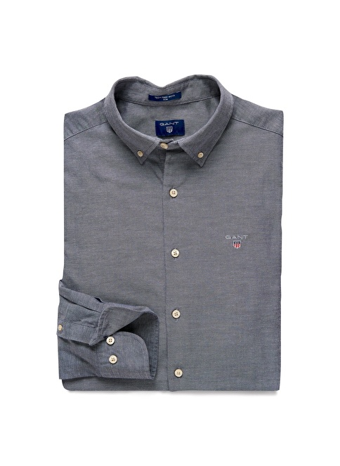Gant Düz Fitted Gömlek Lacivert